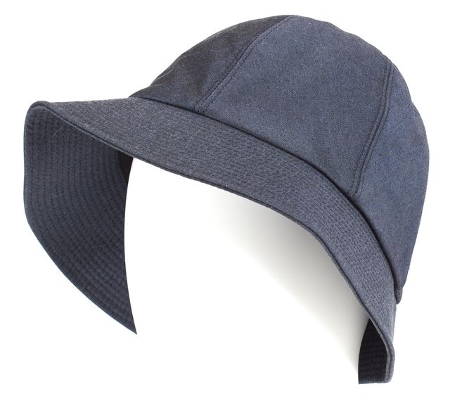 BURBERRY Navy Blue Cotton Bucket Hat