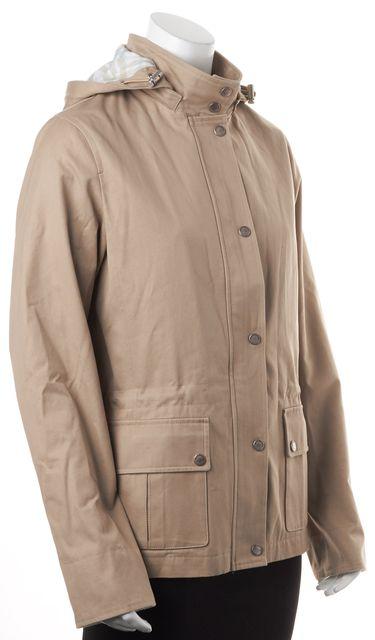 BURBERRY Medium Beige Lara Hooded Button Up Coat