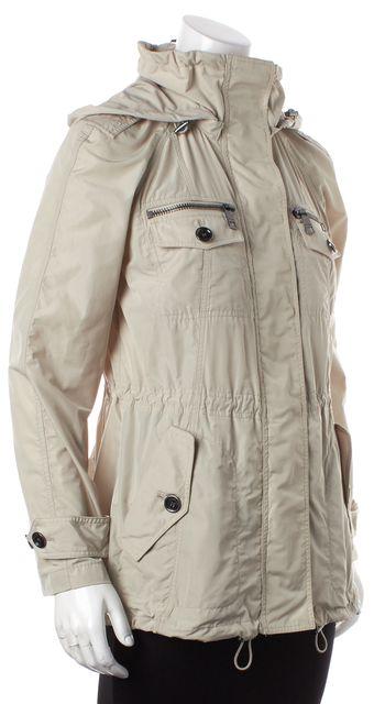 BURBERRY Stone Hooded Draw String Raincoat Jacket