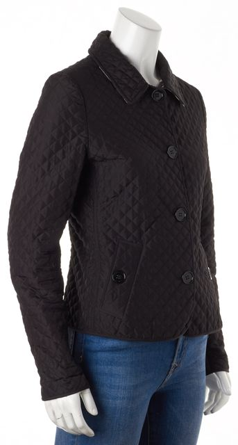 BURBERRY Black Plaid Quilted Puffer Jacket