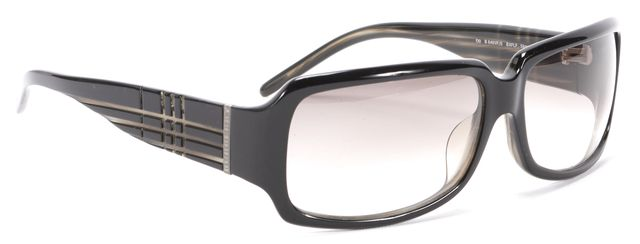 BURBERRY Black Acetate Rectangular Sunglasses