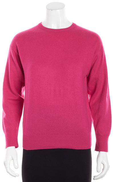 BURBERRY Hot Pink Cashmere Pullover Crewneck Sweater