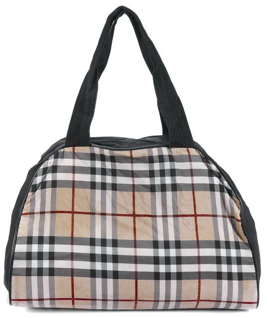 BURBERRY Brown House Check Tote Handbag