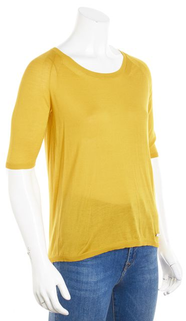 BURBERRY Yellow Knit Top