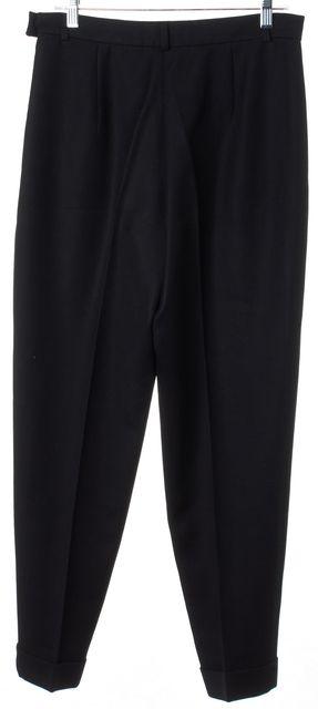 BURBERRY Black Straight Leg Ribbed Dress Pants