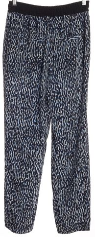 BURBERRY BRIT Black Blue Abstract Silk Casual Pants
