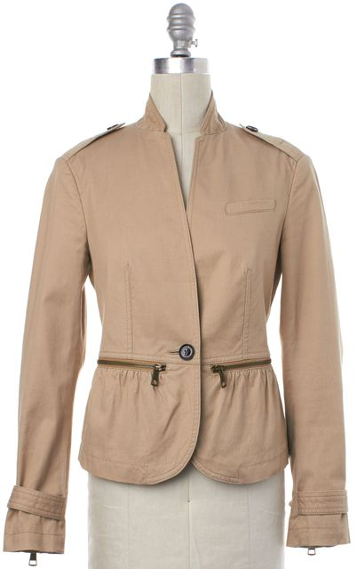 BURBERRY BRIT Light Brown Single Button Jacket
