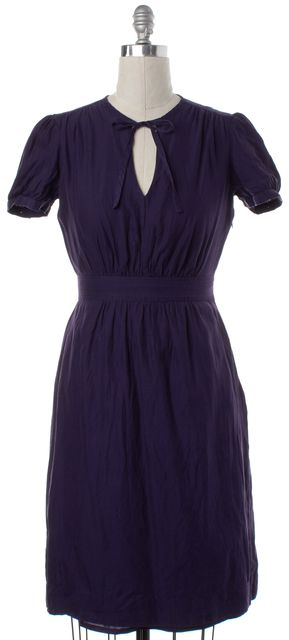 BURBERRY BRIT Purple Silk Sheath Dress