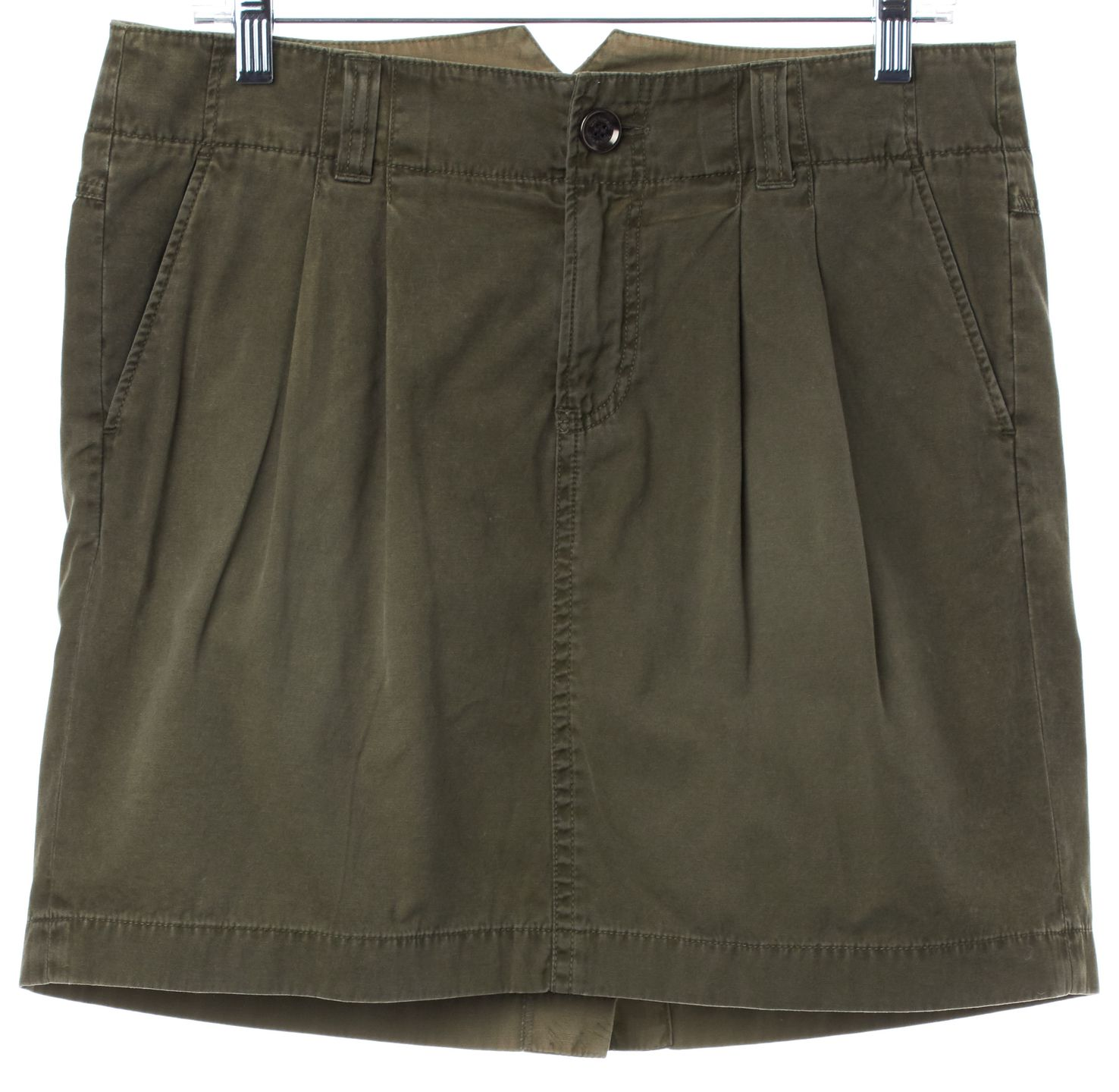 BURBERRY BRIT Green Pleated Straight Skirt