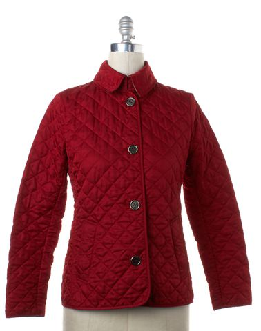 BURBERRY BRIT Red Quilteed Puffer Jacket Size S