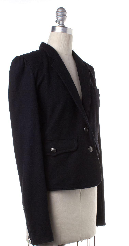 BURBERRY BRIT Black Wool Two Button Blazer