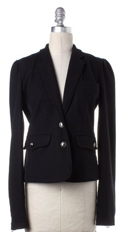 BURBERRY BRIT Black Wool Two Button Blazer