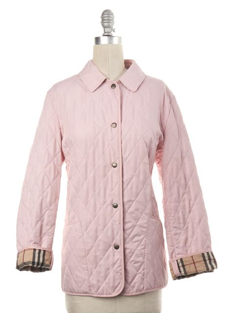 BURBERRY BRIT Pink Quilted Snap Button Jacket