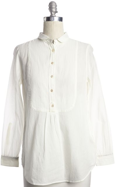 BURBERRY BRIT White Button Up Blouse