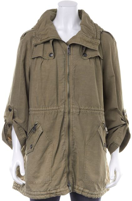 BURBERRY BRIT Brown Hooded Basic Jacket