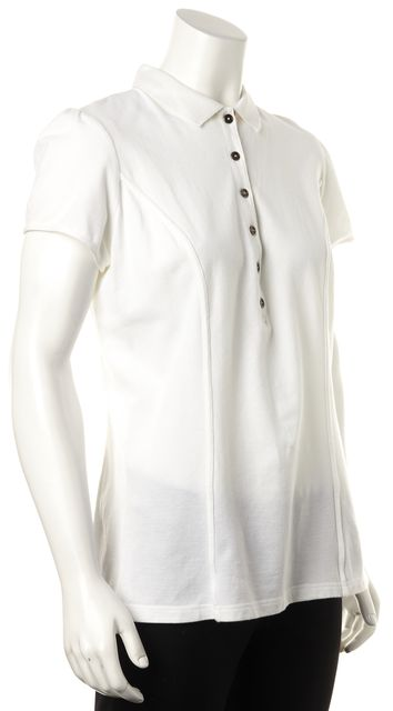 BURBERRY BRIT White Polo Shirt Top