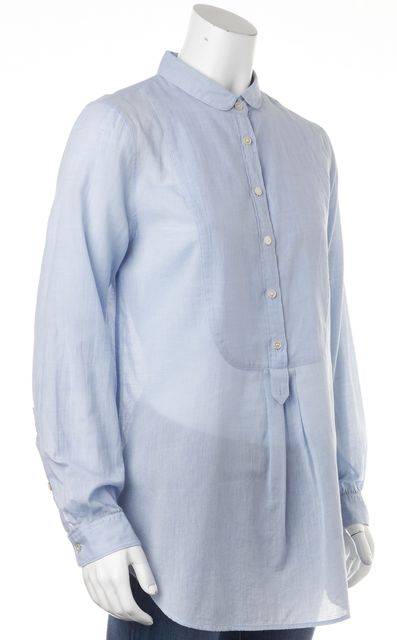 BURBERRY BRIT Blue Button Down Long Sleeve Shirt Top