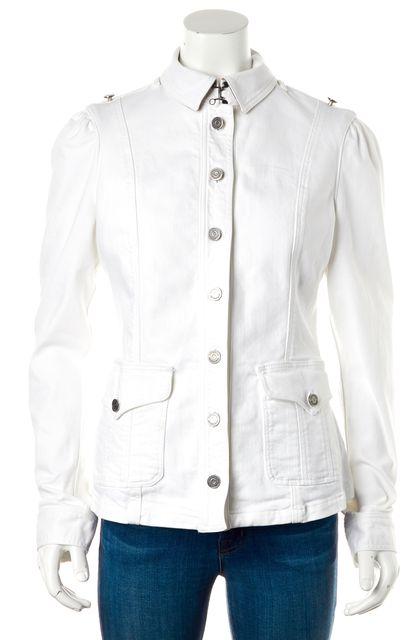 BURBERRY BRIT White Button Up Denim Jacket