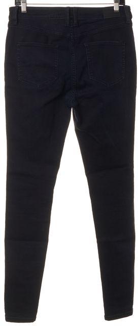 BURBERRY BRIT Blue Stretch Cotton Dark Wash High-Rise Skinny Jeans