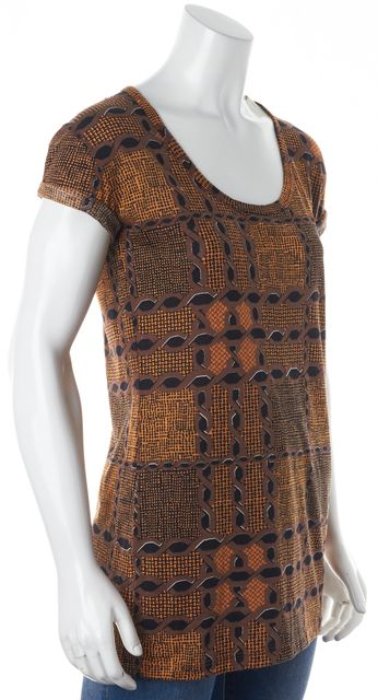 BURBERRY BRIT Brown Geometric Knit Top