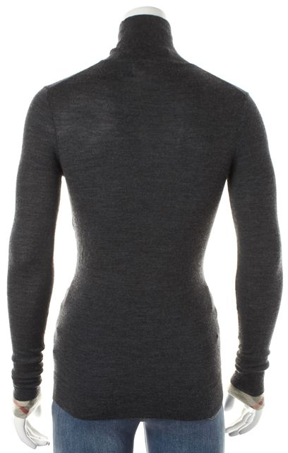 BURBERRY BRIT Dark Gray Wool Long Sleeve Turtleneck Top