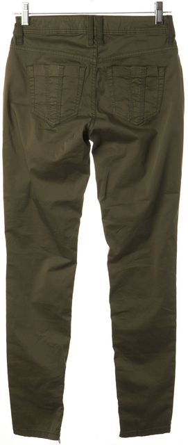 BURBERRY BRIT Forest Green Skinny Pants