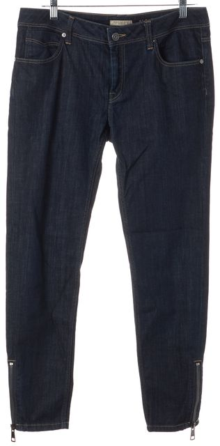 BURBERRY BRIT Blue Ankle Zipped Mid-Rise Skinny Jeans