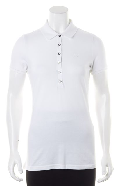 BURBERRY BRIT White Short Sleeved Polo Shirt