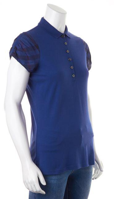 BURBERRY BRIT Indigo Blue Polo Shirt Top