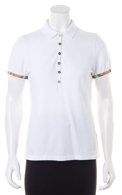 BURBERRY BRIT White Button Up Polo Shirt Top