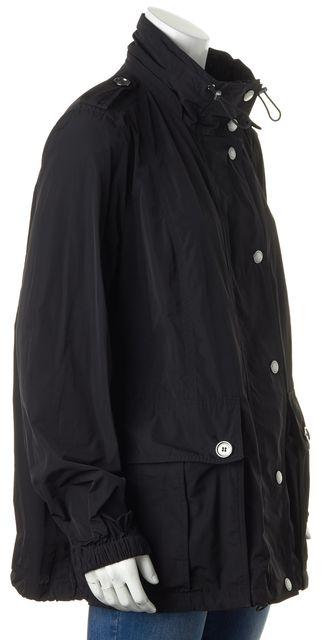 BURBERRY BRIT Black Drawstring Zip-Up Basic Anorak Jacket