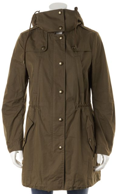 BURBERRY BRIT Army Green Zip Up Hooded Jacket