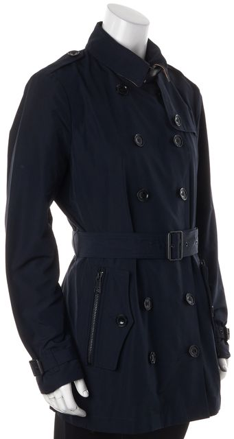 BURBERRY BRIT Navy Blue Trench Jacket