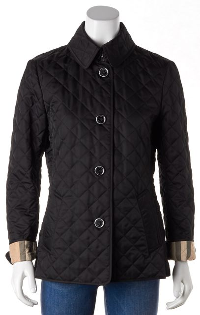 BURBERRY BRIT Black Quilted Basic Jacket