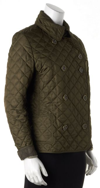 BURBERRY BRIT Brown Quilted Double Breasted Basic Jacket
