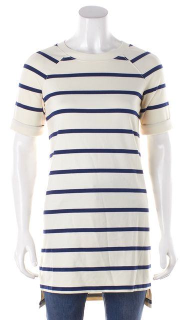 BURBERRY BRIT Blue Striped Knit Top