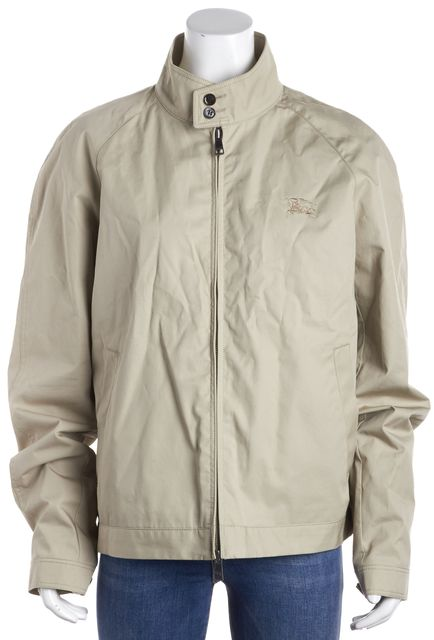 BURBERRY BRIT Beige Collared Basic Coat Jacket