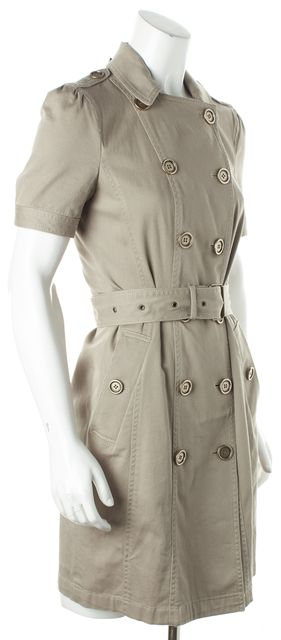BURBERRY BRIT Beige Trench Coat Shift Dress