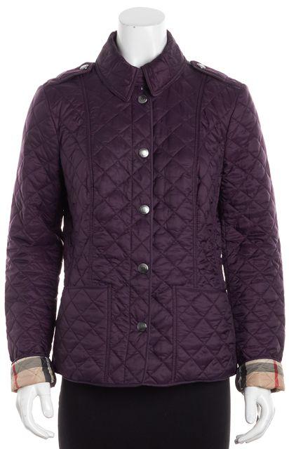 BURBERRY BRIT Purple Light Puffer Jacket