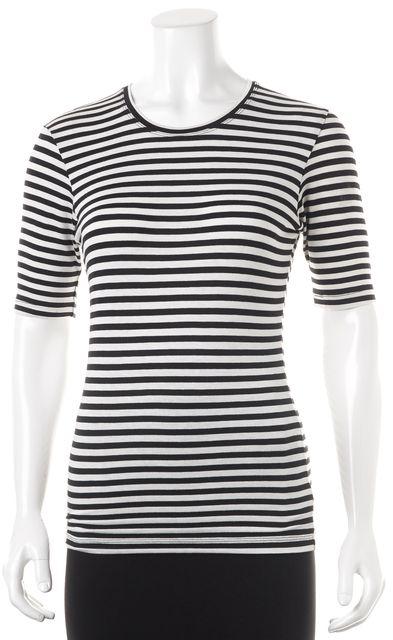 BEC & BRIDGE Black White Striped T-Shirt Top