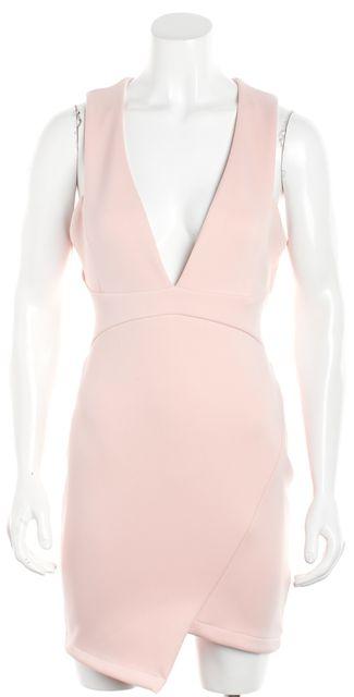 BEC & BRIDGE Pink Desert Of Paradise Deep-V Mini Dress