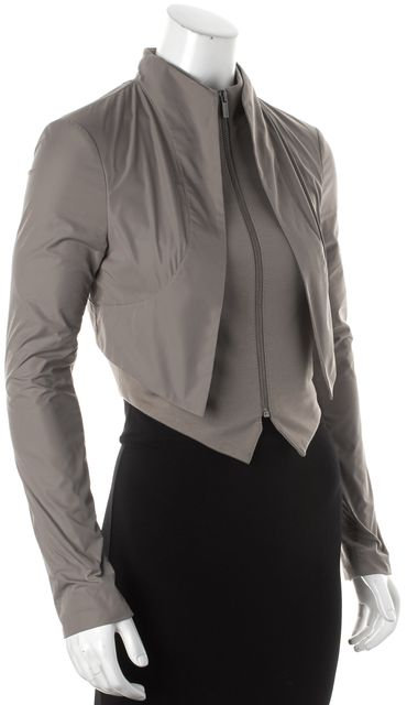 BCBGMAXAZRIA Tan Double Lined Cropped Basic Jacket