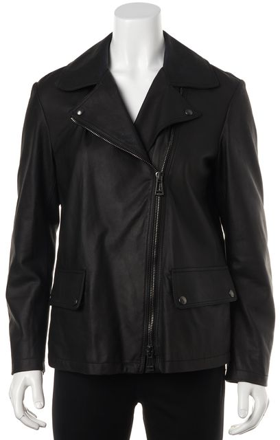 BELSTAFF Black Leather Motorcycle Jacket