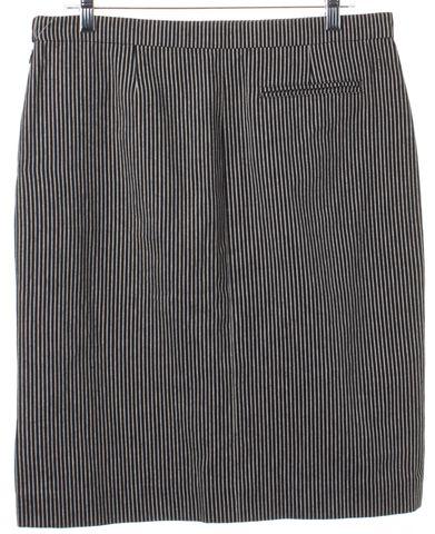 BALENCIAGA Black White Striped Denim Straight Skirt Fits Like Size 6