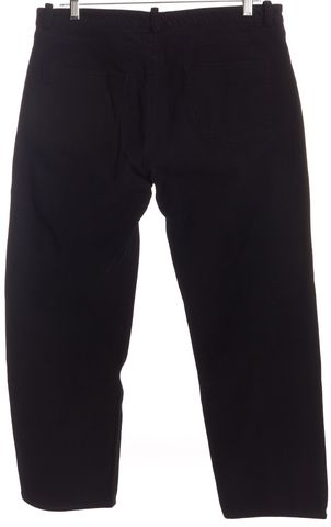 BALENCIAGA Black Gold Detail Cropped Jeans Size M