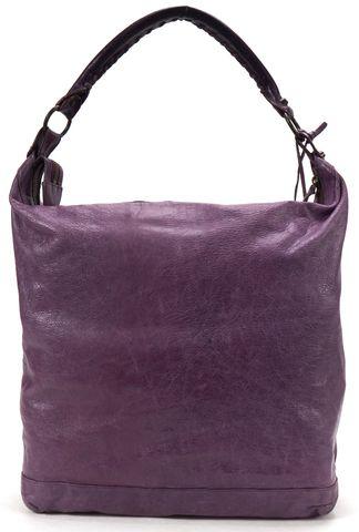 BALENCIAGA Authentic Purple Leather Classic Day Hobo Handbag
