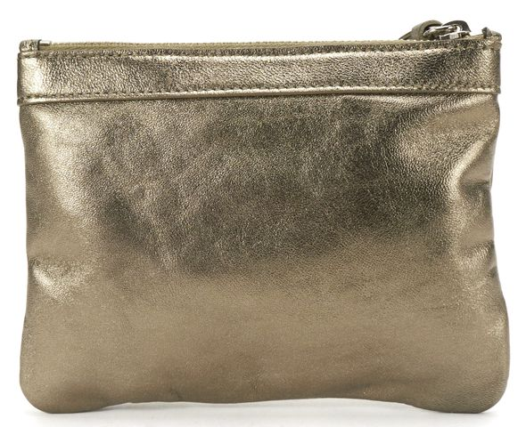 BALENCIAGA Metallic Leather Classic Money Pouch Bag