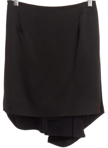 BALENCIAGA Black Velvet Skort Skirt Size 4