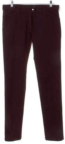 BALENCIAGA Red Burgundy Skinny Jeans Size 10