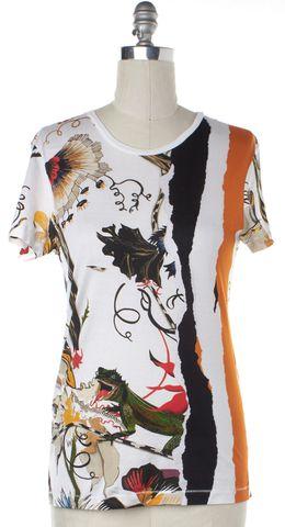 BALENCIAGA Multi-color Graphic Basic Tee T-Shirt Size M